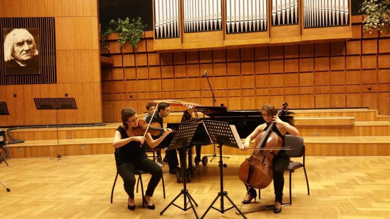 近日,中国东方乐团结束了为期10天的欧洲访问演出交流活动,在以《多瑙河的呼唤》为主题的布达佩斯新春音乐会上,中国东方乐团的古筝新筝演奏再次震惊了匈牙利的音乐家和广大观众,掌声雷动,唏嘘不已。匈方的国务委员和中国驻匈牙利大使段洁龙等领导出席了音乐会,并在音乐会开始前发表了热情洋溢的讲话,盛赞中国东方乐团在国际文化交流和向世界弘扬中国民族文化方面做出的重大贡献,音乐会结束后与全体演员合影留念并给予音乐会极高评价。这是中国东方乐团继2005年参加布达佩斯国际艺术节荣获最高荣誉奖、2014年访问匈牙利、201